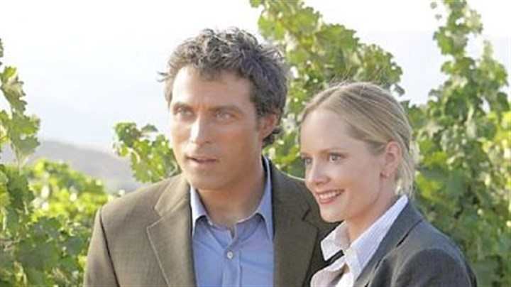 """Eleventh Hour"" Rufus Sewell, left, is Dr. Jacob Hood, Special Science Advisor to the FBI, and Marley Shelton is FBI agent Rachel Young in ""Eleventh Hour."""