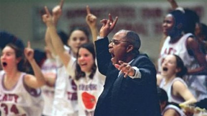 Elizabeth Forward Coach Gerald Grayson, seen here coaching McKeesport's girls basketball team in 1998, has been selected to coach Elizabeth Forward's boys team.