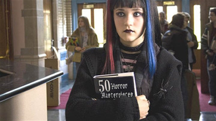 "Emily Osment Emily Osment plays Cassie, a girl who likes the Goth look, in ""R.L. Stine's The Haunting Hour: Don't Think About It,"" which is in stores today on DVD and will air on the Cartoon Network at 7 p.m. Friday."