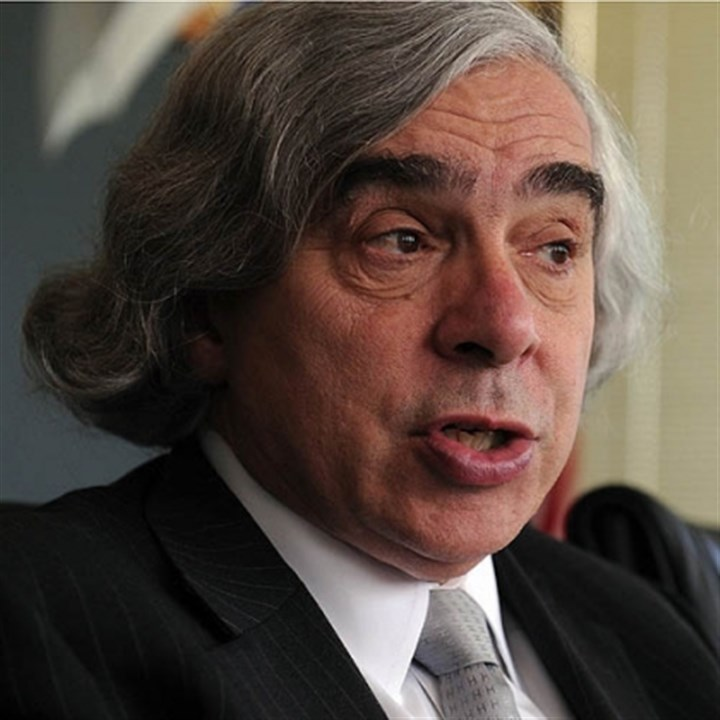 Energy Secretary Ernest Moniz Energy Secretary Ernest Moniz speaks Monday at the offices of the Allegheny Conference on Community Development, Downtown.