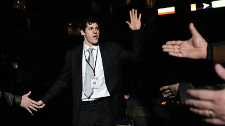 Evgeni Malkin Penguins forward Evgeni Malkin is introduced as Sportsman of the Year at the 74th annual Dapper Dan Dinner.