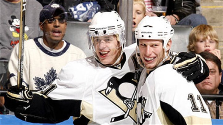 Evgeni Malkin and Jordan Staal Penguins forwards Evgeni Malkin and Jordan Staal.