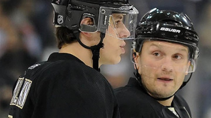 Evgeni Malkin and Sergei Gonchar Penguins defenseman Sergei Gonchar, right, and forward Evgeni Malkin.