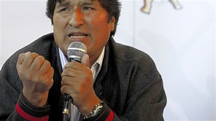 Evo Morales Bolivia's President Evo Morales Ayma at the World People's Conference on Climate Change and the Rights of Mother Earth in Bolivia last year.