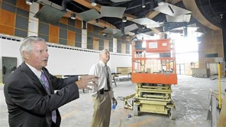 Exploratorium room Pine-Richland schools Superintendent James Manley shows state Auditor General Jack Wagner the Exploratorium room in the under-construction Eden Hall Upper Elementary School during the visit of the auditing team to the district.
