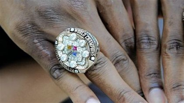 First Super Bowl ring First Super Bowl ring for Nick Eason.