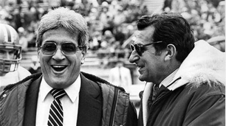 Foge Fazio Foge Fazio and Joe Paterno in a 1983 file photo.