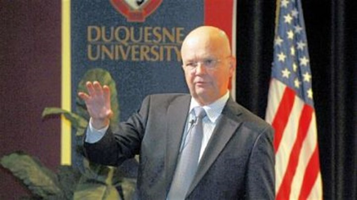 Former CIA director and Duquesne University alumnus Gen. Michael V. Hayden Former CIA director and Duquesne University alumnus Gen. Michael V. Hayden on campus Friday.