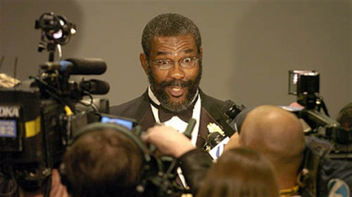 Former Steeler Joe Greene. celebration chairman Former Steeler Joe Greene (No. 75), celebration chairman, talks with the media at the Steelers 75th Season Gala at the David L. Lawrence Convention Center.