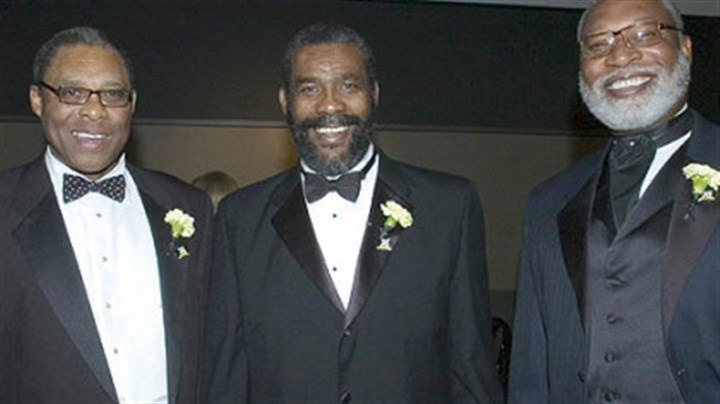Former Steelers Dwight White, Joe Green, and L.C. Greenwood Former Steelers Dwight White, Joe Green, and L.C. Greenwood at the Steelers 75th Season Gala at the David L. Lawrence Convention Center.