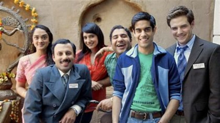 "Fox Chapel Area High School graduate Anisha Nagarajan Fox Chapel Area High School graduate Anisha Nagarajan, left, is among the cast of ""Outsourced."" Others are Rizwan Manji, Rebecca Hazelwood, Parvesh Cheena, Sacha Dhawan and Ben Rappaport."