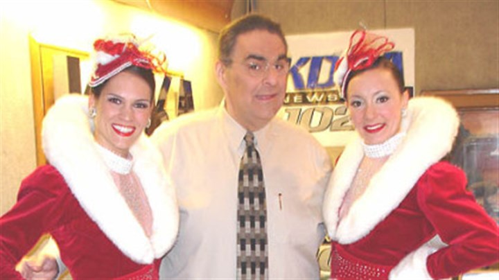 Fred and the Rockettes Fred Honsberger poses with the Rockettes.