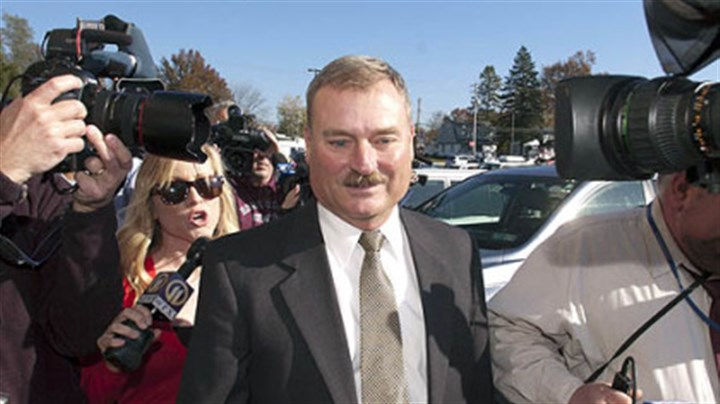 Gary Schultz Former Penn State vice president Gary Schultz outside the district justice?s office in Harrisburg, where he was arraigned Monday.