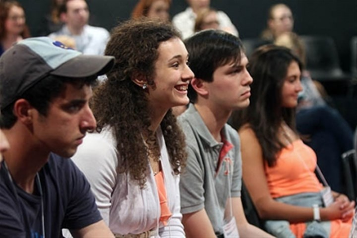 Gene Kelly winner Rachael Houser Gene Kelly Award winner Rachael Houser of Quaker Valley High School listens eagerly during the first rehearsal for the National High School Musical Theater Awards, which culminate in a Broadway show on July 1.