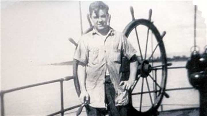 Gerard Driscoll at sea Gerald Driscoll aboard the S.S. Fisher Hill, a tanker, during World War II.