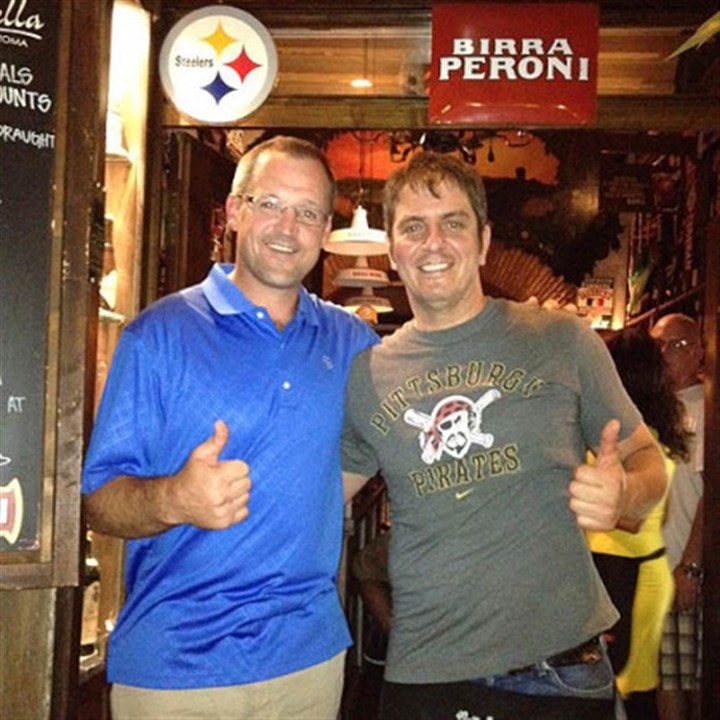 giovanni and bylsma Penguins coach Dan Bylsma visited La Boticella during a family trip to Rome.