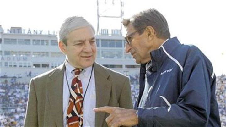 Graham Spanier and Joe Paterno Voters surveyed in the Quinnipiac University poll said they approve of the firing of Penn State President Graham Spanier and football Coach Joe Paterno, right.