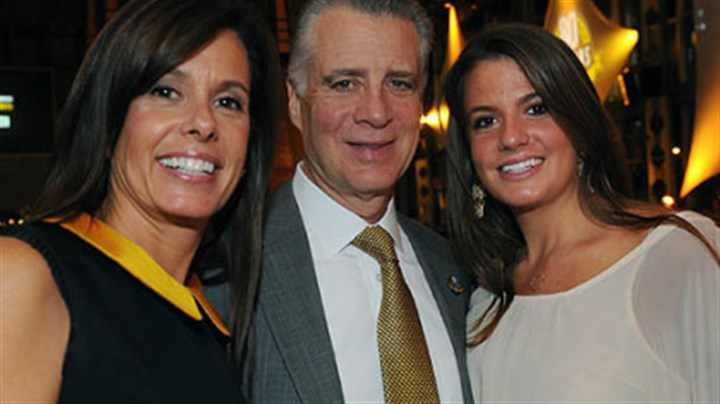 Greta and Art Rooney II with daughter Mary Greta Greta and Art Rooney II with daughter Mary Greta
