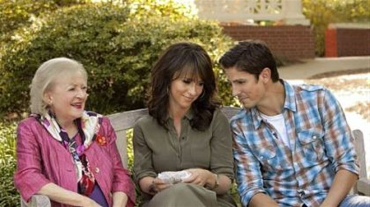 "Hallmark Hall of Fame's ""The Lost Valentine"" Betty White, left, Jennifer Love Hewitt and Sean Faris star in Hallmark Hall of Fame's ""The Lost Valentine,"" airing Sunday on CBS."