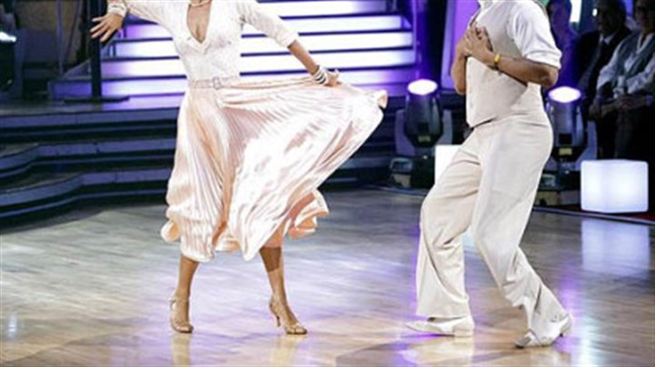 "Hands over heart Hines Ward and Kym Johnson were among the five remaining pairs performing two dances Monday night on ""Dancing With the Stars."""