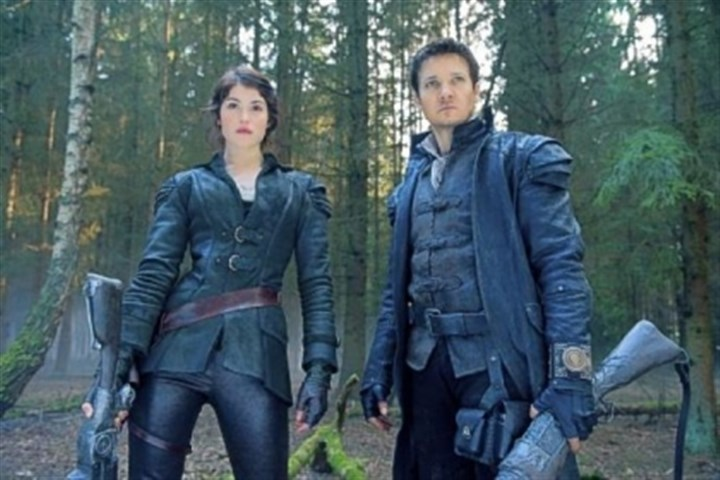 """Hansel & Gretel"" Gemma Arterton is Gretel and Jeremy Renner is Hansel in the R-rated ""Hansel & Gretel."""
