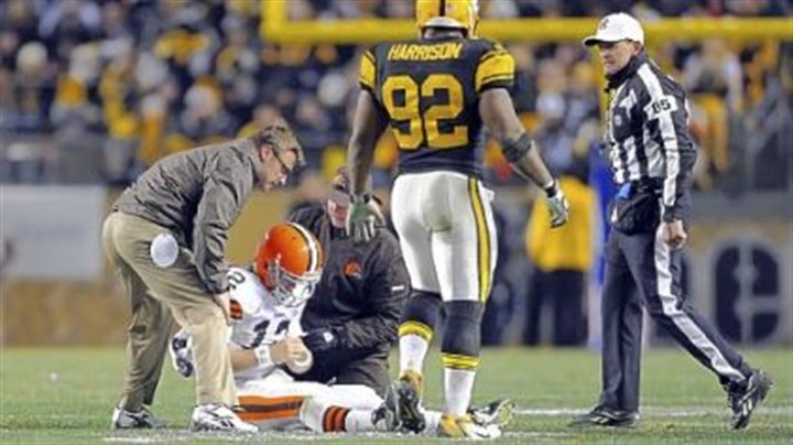 Harrison Linebacker James Harrison could face a suspension for his helmet-to-helmet hit on Colt McCoy Thursday.