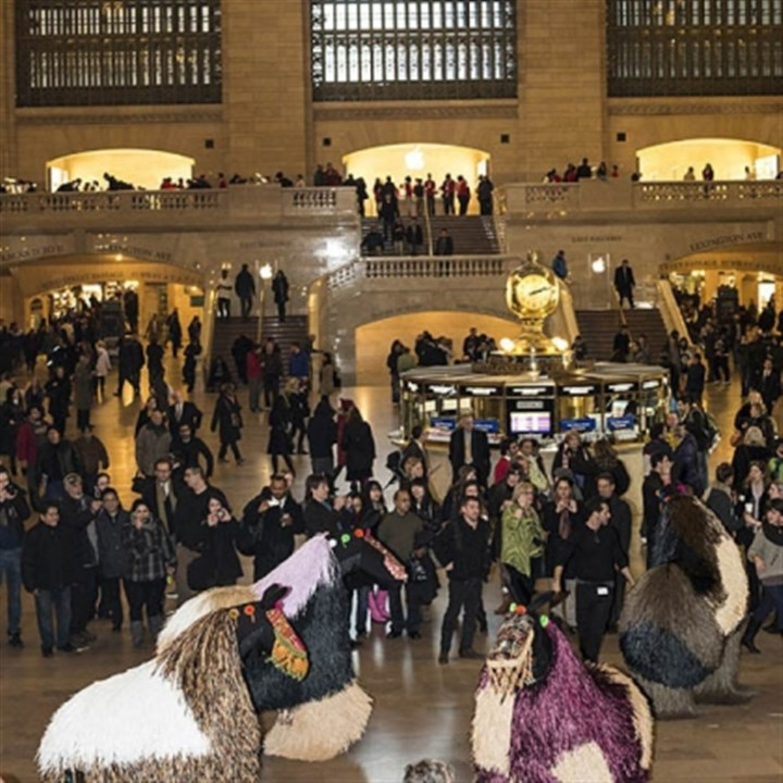 "'HEARDNY' Nick Cave's ""HEARDNY"" in Grand Central Terminal in New York City."