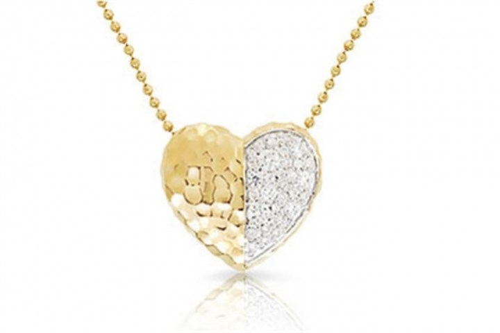 Heart necklace Yellow gold and diamond heart necklace, $2,000.