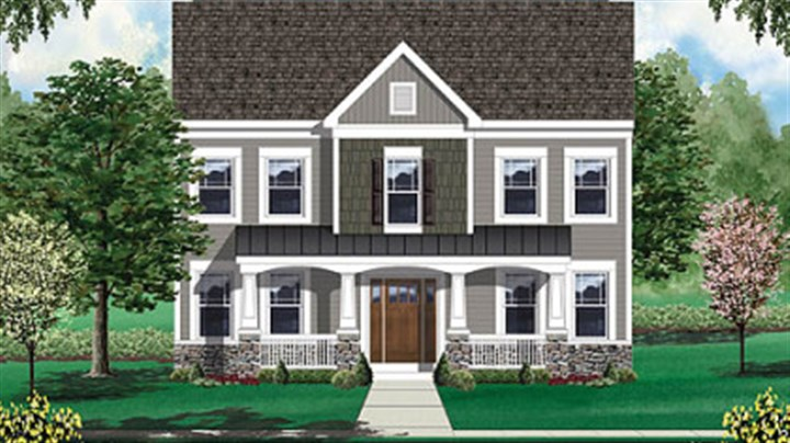 Craftsman style house facades