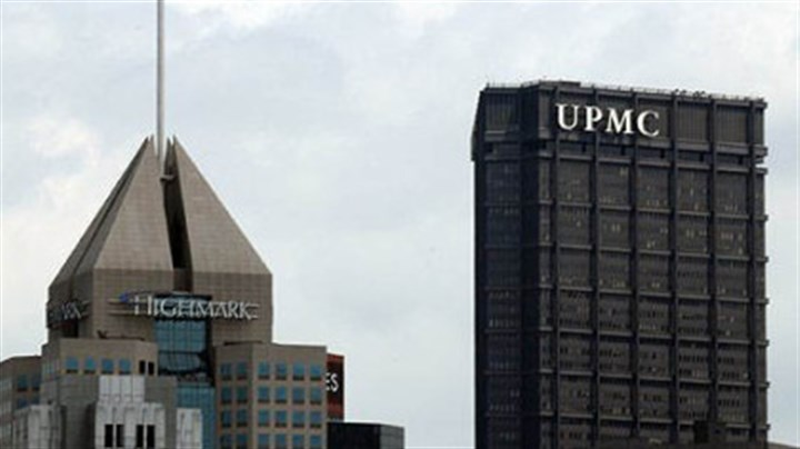 Highmark and UPMC The Fifth Avenue Place headquarters of Highmark seen with the U.S. Steel Tower offices of UPMC in Downtown Pittsburgh.