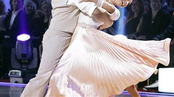 "Hines and Kym all smiles Hines Ward and Kym Johnson perform during ""Dancing With the Stars"" on Monday night."