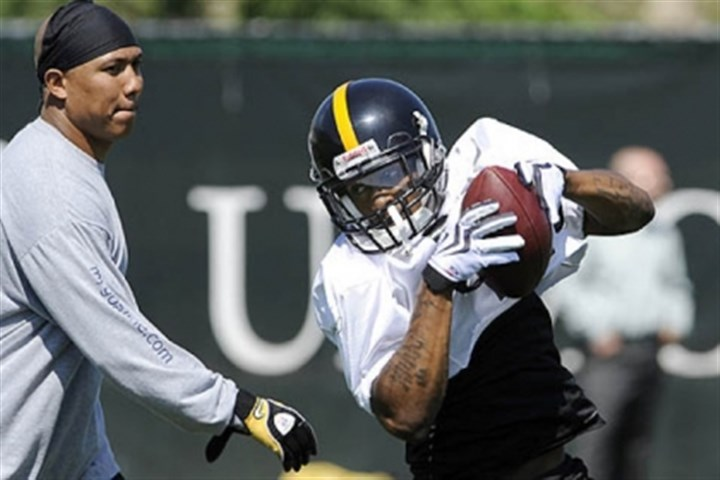 Hines Ward offers help As the dissection of 2012 continues, don't underestimate the leadership lost when Hines Ward, left, was not wanted back after 2011. He often helped out the younger receivers in practice or camp situations.