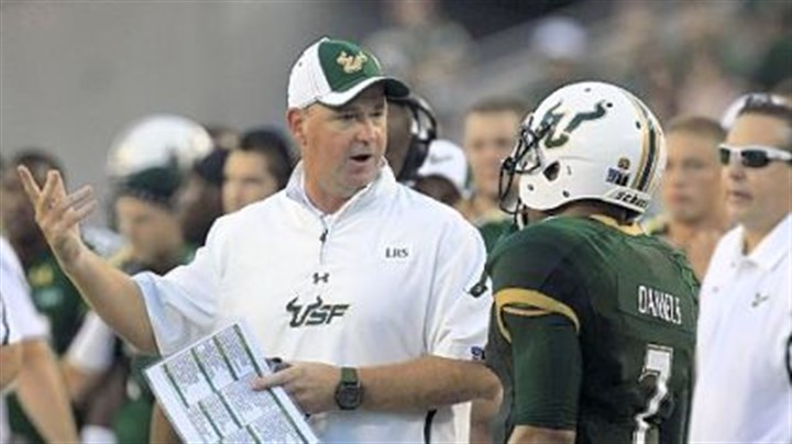 Holtz The combination of second-year coach Skip Holtz, left, and B.J. Daniels has made South Florida the top-ranked Big East team this week at No. 16.