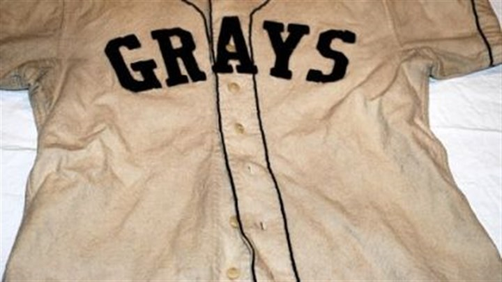 Homestead Grays shirt This shirt is part of one of only two Homestead Grays uniforms known to be in existence. It is on display at the John Heinz History Center's exhibit marking the 100th anniversary of Forbes Field.