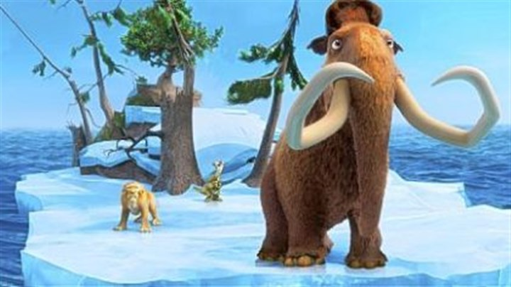 "'Ice Age: Continental Drift' In ""Ice Age: Continental Drift,"" Diego is voiced by Denis Leary, left, Sid by John Leguizamo and Manny by Ray Romano."