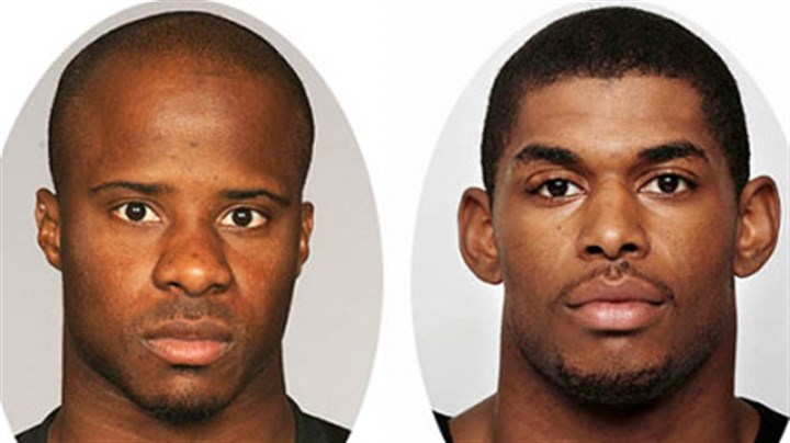 Ike Taylor, left, and Marques Colston. Ike Taylor, left, and Marques Colston.