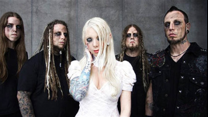 In This Moment In This Moment, featuring singer Maria Brink, center, is part of the Rockstar Energy Uproar Festival.