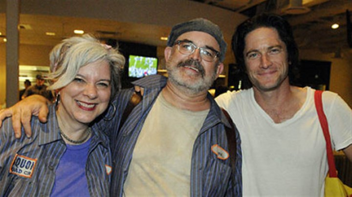 Jackie Dempsey and Steve O'Hearn with David Conrad Artistic directors Jackie Dempsey and Steve O'Hearn with David Conrad.