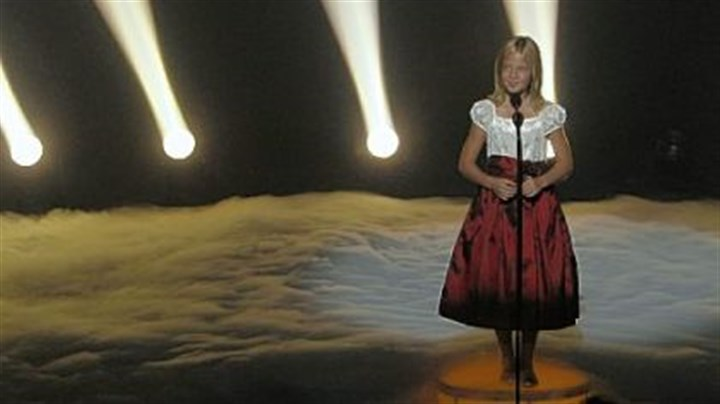 Jackie Evancho Jackie Evancho on stage during Wednesday night's finale.