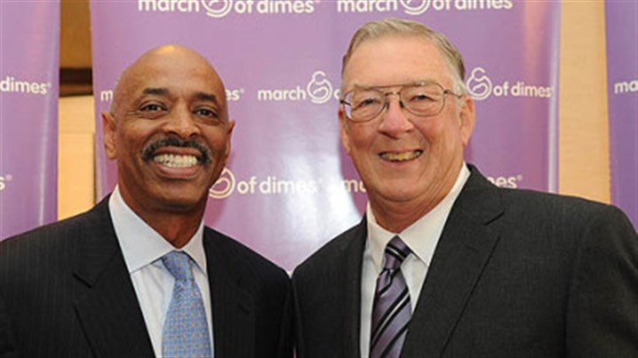 James Dennis and Kent Tekulve State Director of March of Dimes James Dennis and Kent Tekulve.