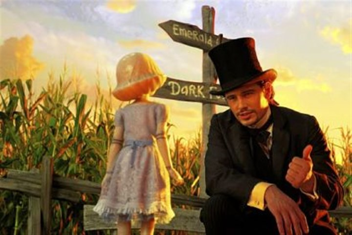 "James Franco James Franco steps into the Wizard's shoes in ""Oz the Great and Powerful."""