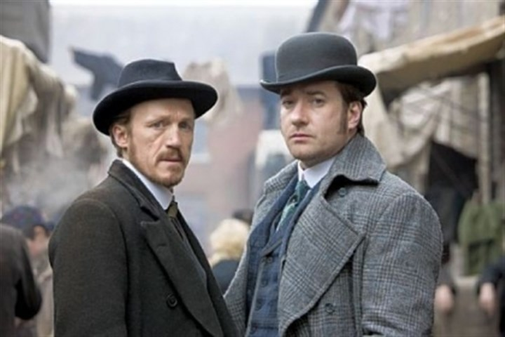 "Jerome Flynn and Matthew Macfadyen Jerome Flynn, left, and Matthew Macfadyen are the law in London's East End just after Jack the Ripper's reign of terror in BBC America's ""Ripper Street."""