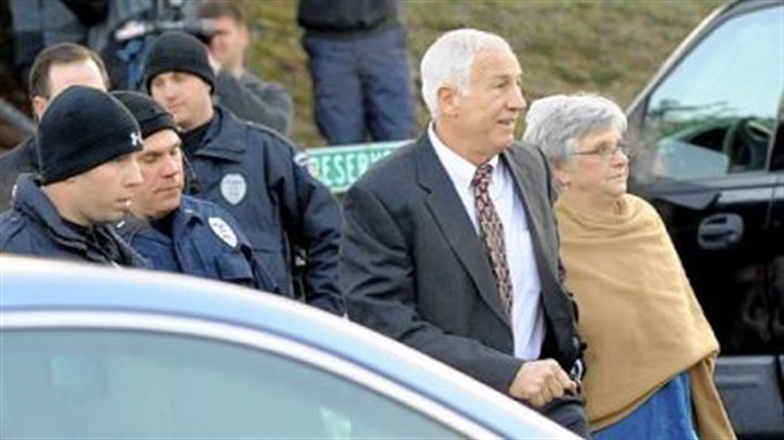Jerry Sandusky Jerry Sandusky arrives with his wife, Dottie, at the Centre County Courthouse in Bellefonte on Dec. 13.