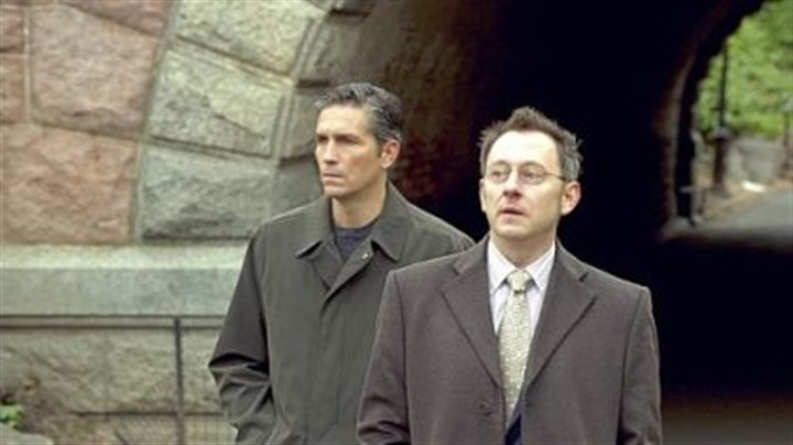 "Jim Caviezel, Michael Emerson Jim Caviezel, left, and Michael Emerson have their eye on everyone in ""Person of Interest."""