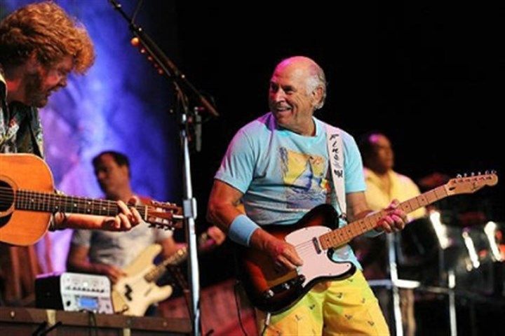Jimmy Buffett and The Coral Reefer Band Jimmy Buffett and The Coral Reefer Band on stage at First Niagara Pavilion.