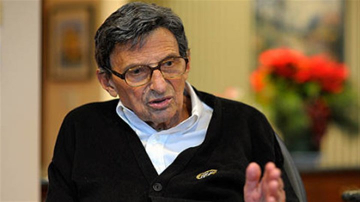 Joe Paterno Former Penn State football coach Joe Paterno during a Jan. 12 interview.