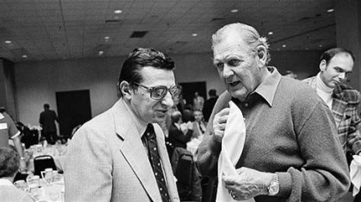 "Joe Paterno and Paul ""Bear"" Bryant Penn State's Joe Paterno was 0-4 all-time against legendary Alabama coach Paul ""Bear"" Bryant."