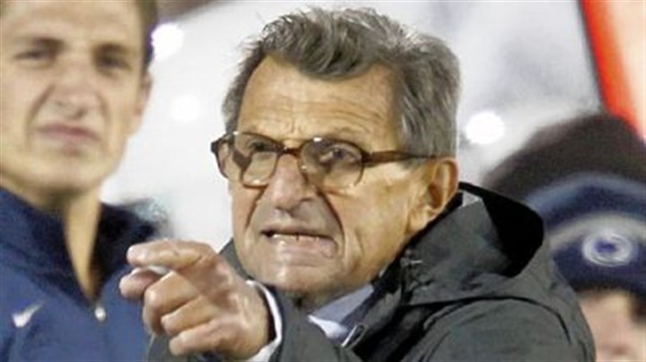 JoePa Penn State coach Joe Paterno disagrees with a side judge during a game against Michigan in October. Penn State won 41-31.