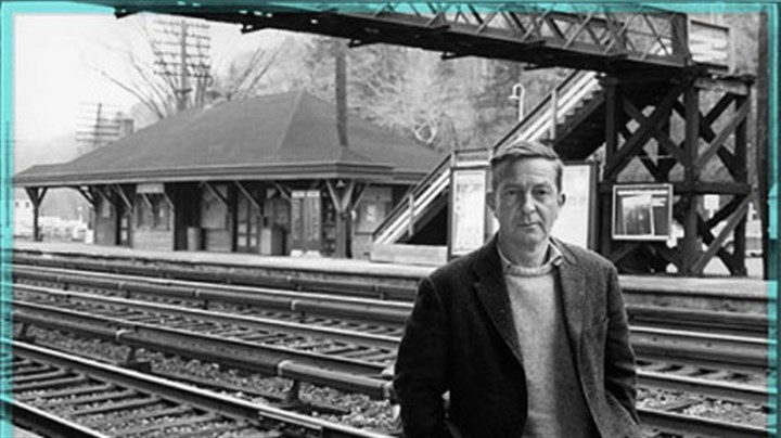 John Cheever John Cheever stands at the kind of commuter station often found in his fiction.