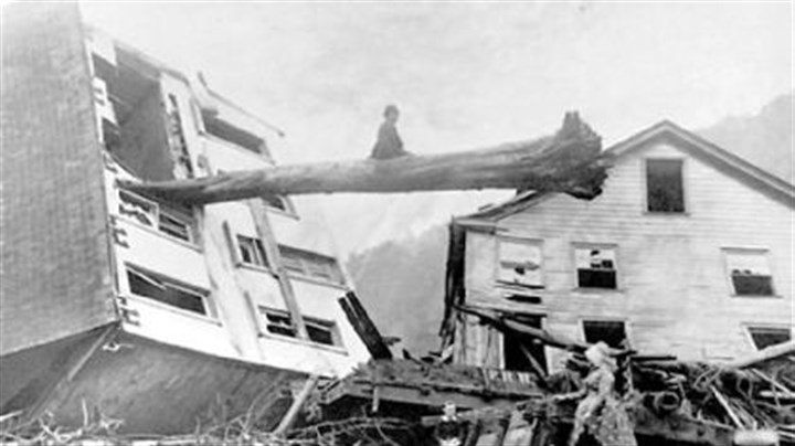 Johnstown Flood image Johnstown Flood image (tree through house): Historic 1889 photo courtesy of Johnstown Area Heritage Association.